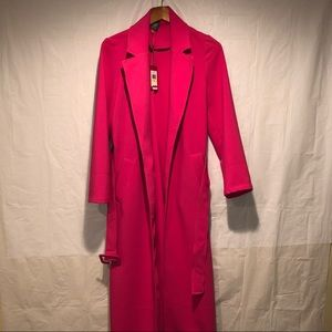 Pink Vince Camuto trench coat size medium